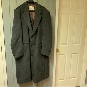 Vintage cashmere and wool long coat